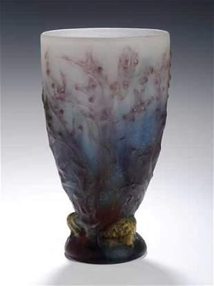 58A: An Amalric Walter pate de verre vase,des