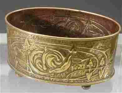 387: A Scottish Arts and Crafts brass jardini