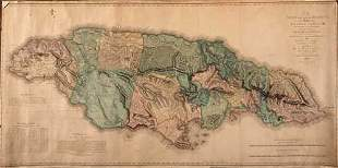 JAMAICA Map of Jamaica by James Robertson