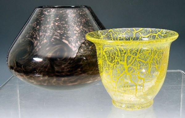1006: A Monart glass vaseof ovoid form