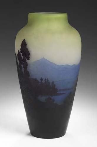 1022: A Galle cameo glass vase