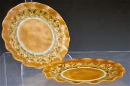 1102: Christopher Dresser, a pair of Linthorpe vases