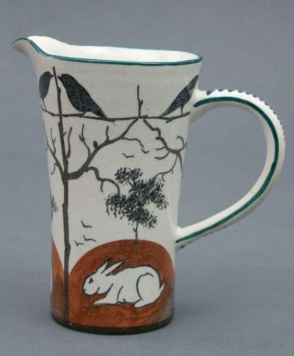 1012: A Wemyss 'Earlshall' milk jug, 11.5cm high