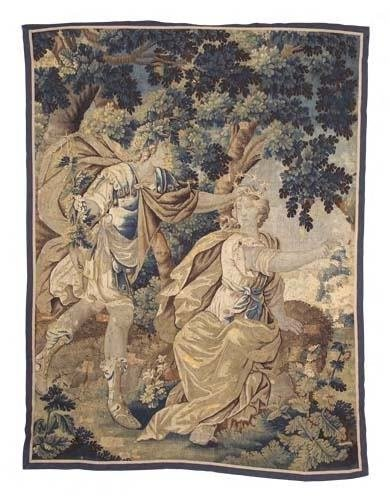 1206: A late 17th century Aubusson tapestry, 222cm x 17
