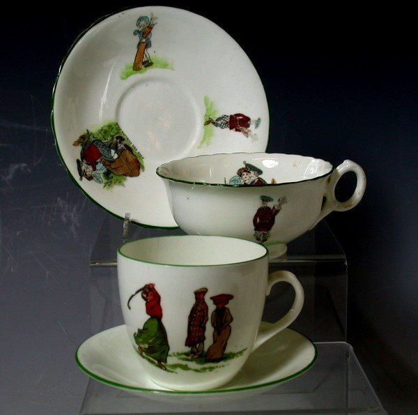 6: Golf: A porcelain coffee cup and saucer,