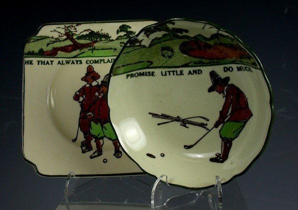 9: Golf:A Royal Doulton Series ware plate,