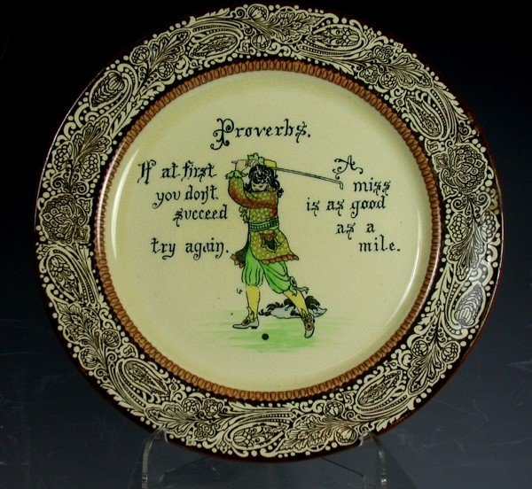 10: Golf: A Royal Doulton Proverb Series ware plate,