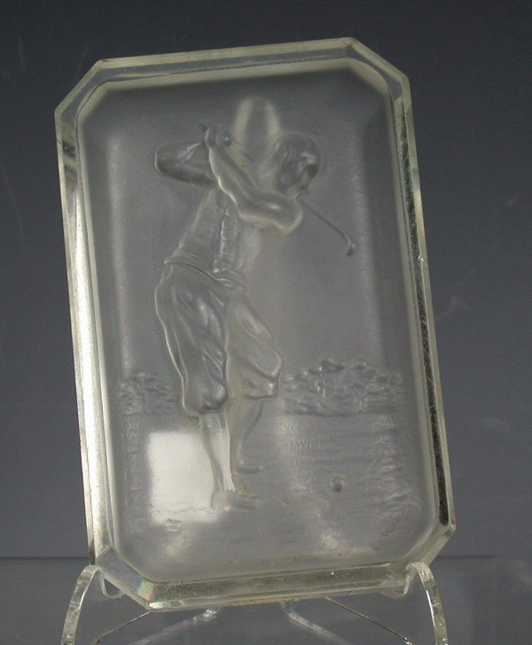21: Golf: A Hoffman intaglio cut ashtray,