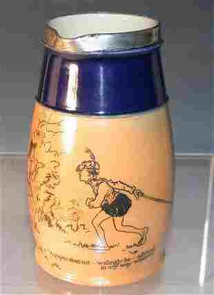 A Royal Doulton, stoneware jug, printed in black wit
