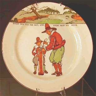 A Royal Doulton seriesware plate, transfer printed a