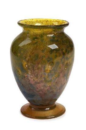 5: A Monart glass vase, 17.5cm high