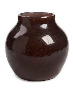 23: A large Monart glass 'stoneware' vase, 21.5cm high