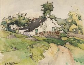 318: ERNEST ARCHIBALD TAYLOR (1874 - 1951) COTTAGE IN A