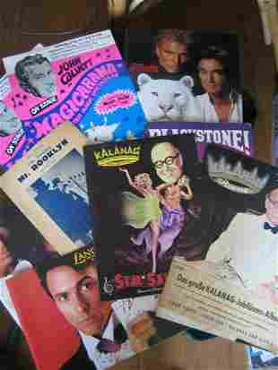 16: MAGIC PROGRAMS A collection of about 20 domestic an
