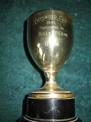 23: COTSWOLD CUP AWARD  Presented to Billy McComb by U.