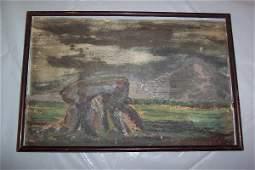 264: ORIGINAL ARTWORK An original oil on board composi