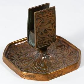 Tiffany Studios Bronze 'Zodiac' Match Safe