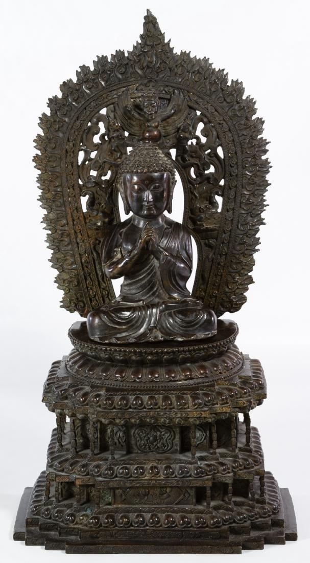 Asian Sino-Tibetan Bronze Buddha Figure