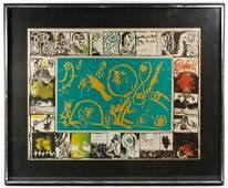 Pierre Alechinsky French b1927 Magic Mirror