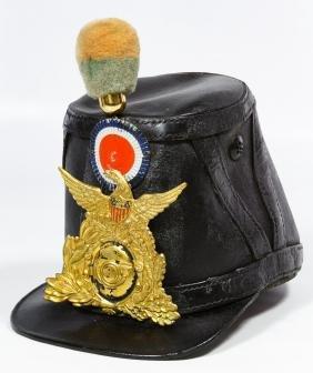 Civil War Era US Leather Shako Cap