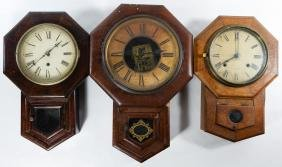 Octagon Cased Wall Clock Assortment