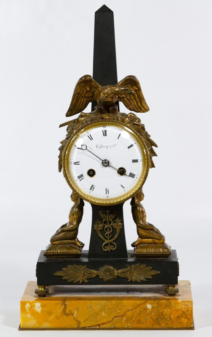 Tiffany & Co. French Egyptian Revival Gilt Bronze and