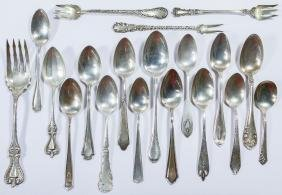Sterling Silver Spoon and Fork Assortment
