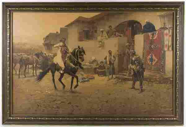 Josef Brandt (Polish, 1841-1915) 'Cossack Rider' Print