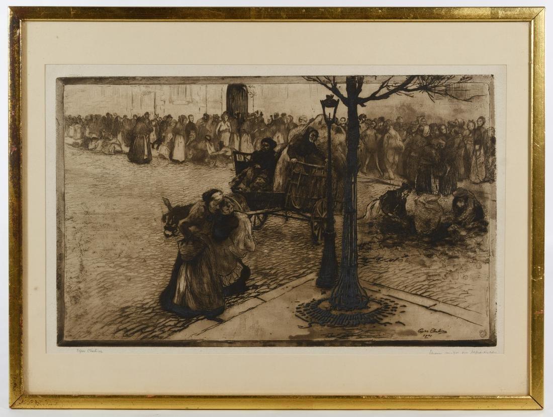 Edgar Chahine (Armenian, 1874-1947) Etching