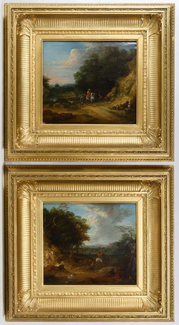 Karel Breydel (Flemish, 1678-1733) Oil on Wood Panel