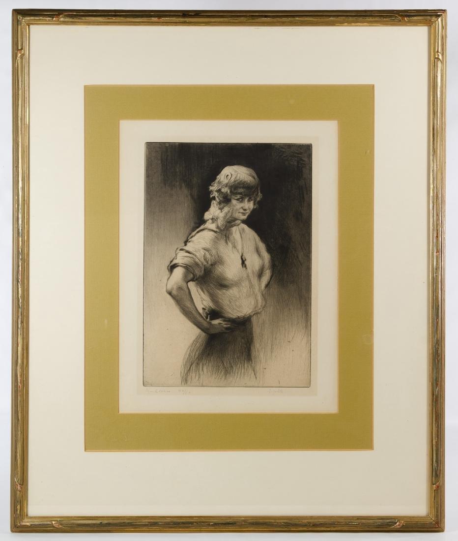 Edgar Chahine (French, 1874-1947) 'Gigolette' Etching