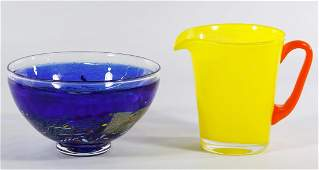Kosta Boda Blue Art Glass Bowl