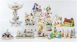 H Fabris and Japanese Ceramic Figurine Assortment