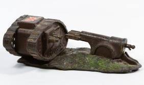 Cast Iron 'Cannon and Tank' Mechanical Bank