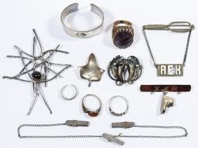 Modernist Sterling Silver Jewelry Assortment