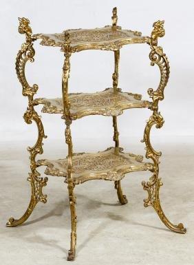 Ornate Brass Stand