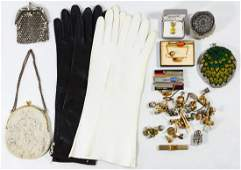 Mens Jewelry Womens Purse and Glove Assortment