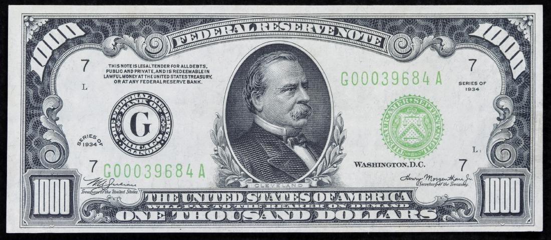 1934 $1000 FRN Chicago XF