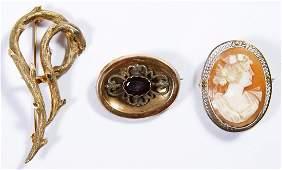 14k and 10k Gold Brooch Pins