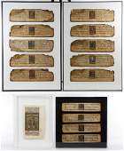 Framed Indian Illuminated Manuscript Pages