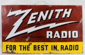 Zenith Porcelain Enamel Metal Advertising Sign