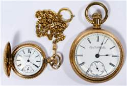 Elgin and American Waltham Gold Filled Pocket Watches