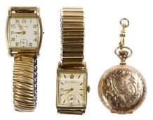 Gold Filled Pocket and Wrist Watch Assortment