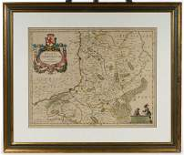 Hand Colored Belgium The Netherlands Limburg Map