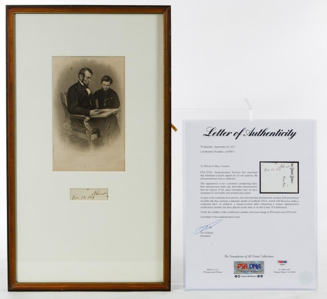 Abraham Lincoln (1809-1865) Cut Autograph Signature PSA
