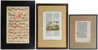 Illuminated Manuscript Assortment