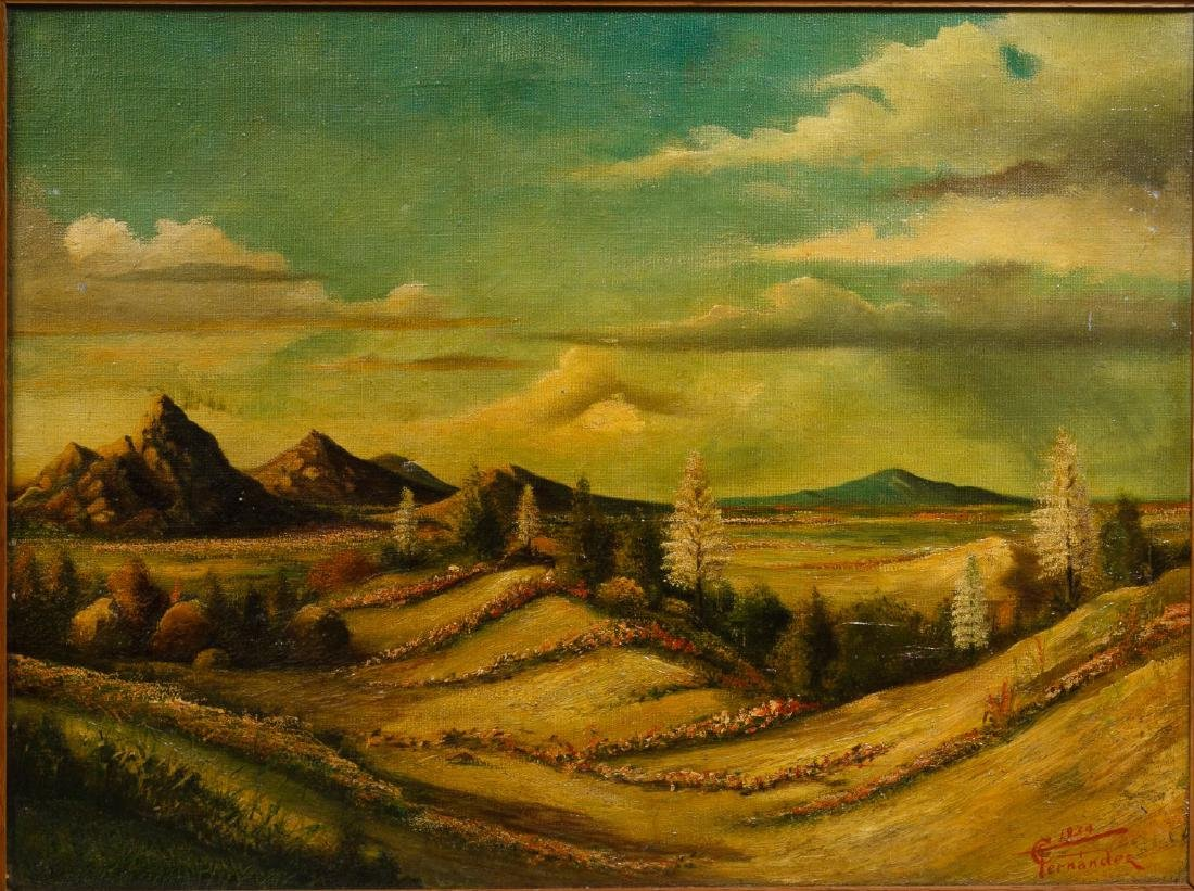 Fernandez (European, 20th Century) Oil on Canvas - 2