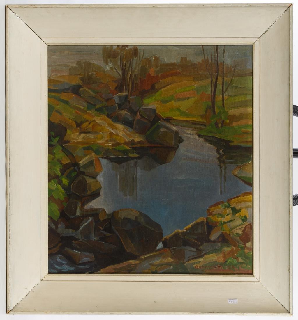 Gunnar Wallentin (Swedish, 1905-1997) Oil on Board