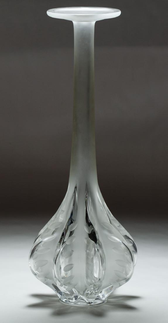 Lalique Crystal 'Claude' Vase