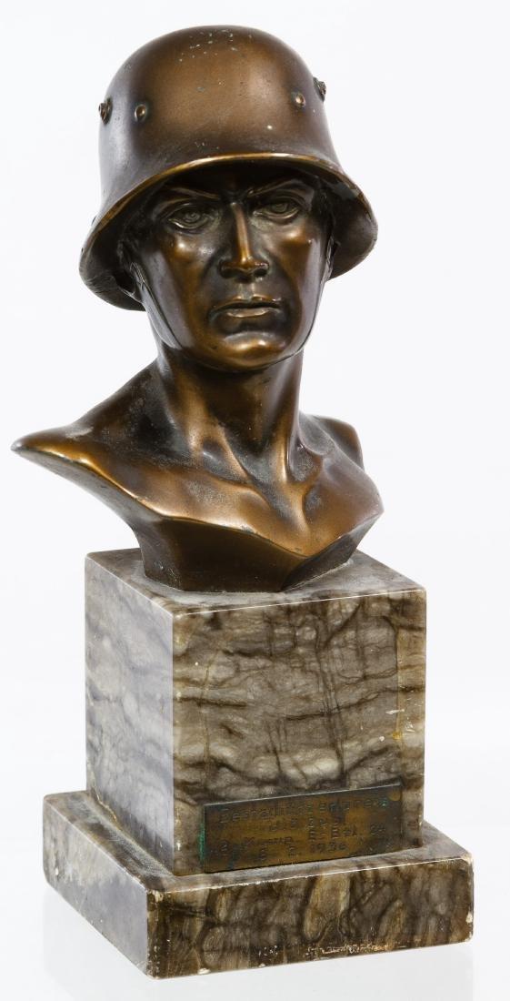 German World War I Soldier Statue
